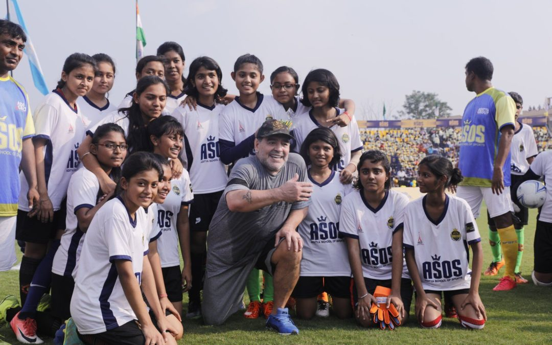 Workshop with Diego Maradona